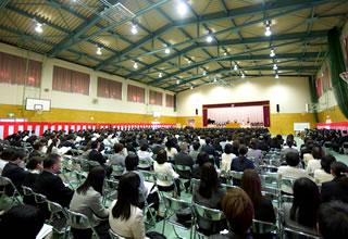 平成28年度入学式式辞の様子
