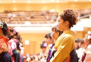 平成27年度卒業式式辞の様子