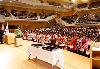 平成28年度卒業式式辞の様子