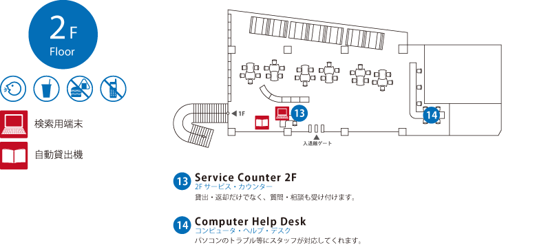 2F Learning Commons -ラーニング・コモンズ-